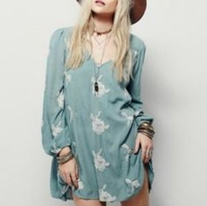 Free People Embroidered Emma Austin Mini Dress